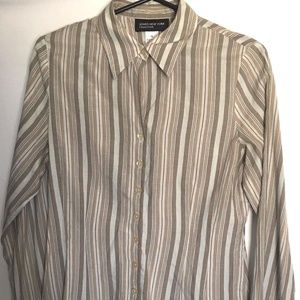 Women's Jones New York Long Sleeve Shirt  Size 10